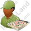 Pizza Deliveryman Male Dark Icon