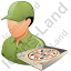 Pizza Deliveryman Male Light Icon