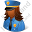 Police Captain Female Dark Icon, PNG/ICO, 64x64