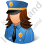 Police Captain Female Light Icon