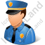 Police Captain Male Light Icon