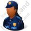 Police Officer Female Dark Icon, PNG/ICO, 64x64