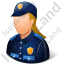 Police Officer Female Light Icon, PNG/ICO, 64x64