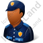 Police Officer Male Dark Icon, PNG/ICO, 64x64