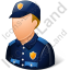 Police Officer Male Light Icon, PNG/ICO, 64x64