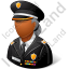 Police Sheriff Female Dark Icon