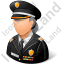 Police Sheriff Female Light Icon
