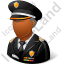 Police Sheriff Male Dark Icon