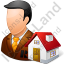 Real Estate Broker Male Light Icon, PNG/ICO, 64x64