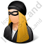 Robber Female Light Icon