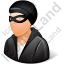 Robber Male Light Icon
