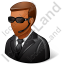 Security Guard Male Dark Icon