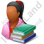 Student Female Dark Icon