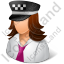 Taxi Driver Female Light Icon, PNG/ICO, 64x64