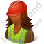 Worker Female Dark Icon, PNG/ICO, 64x64