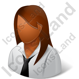 Employee Female Dark Icon, PNG/ICO, 256x256