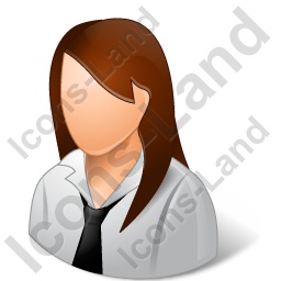 Employee Female Light Icon