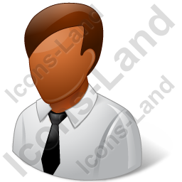 Employee Male Dark Icon