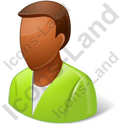 User Green Male Dark Icon