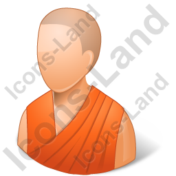 Bhikkhuni Orange Robe Icon