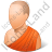 Bhikkhu Orange Robe Icon