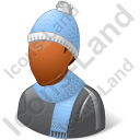 Person Winter Wear Male Dark Icon