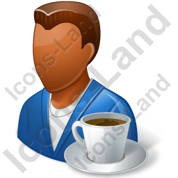 Person Coffee Break Male Dark Icon, PNG/ICO, 256x256