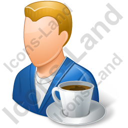 Person Coffee Break Male Light Icon