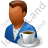 Person Coffee Break Male Dark Icon, PNG/ICO, 48x48