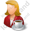 Person Coffee Break Female Light Icon