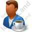 Person Coffee Break Male Dark Icon, PNG/ICO, 64x64