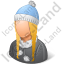 Person Winter Wear Female Light Icon