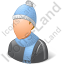 Person Winter Wear Male Light Icon