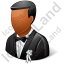 Wedding Bridegroom Dark Icon
