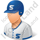 Baseball Player Male Light Icon