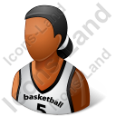 Basketball Player Female Dark Icon