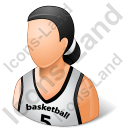 Basketball Player Female Light Icon