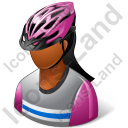Cyclist Female Dark Icon
