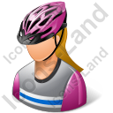 Cyclist Female Light Icon