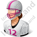 Football Player Female Light Icon, PNG/ICO, 128x128