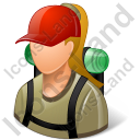 Hiker Female Light Icon, PNG/ICO, 128x128