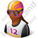 Skier Female Dark Icon