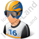 Skier Male Light Icon