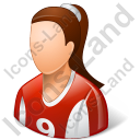 Soccer Player Female Light Icon