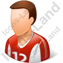 Soccer Player Male Light Icon