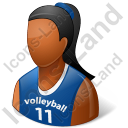 Volleyball Player Female Dark Icon