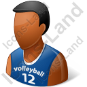 Volleyball Player Male Dark Icon