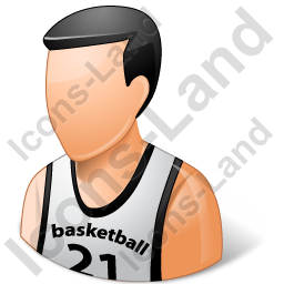Basketball Player Male Light Icon