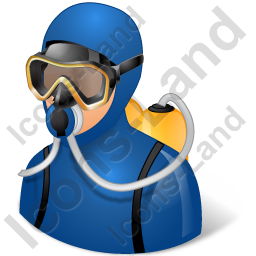 Diver Male Light Icon