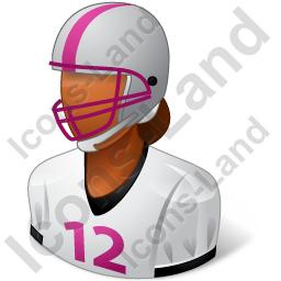 Football Player Female Dark Icon